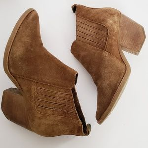 Anthro Matisse Eve Brown Ankle Boots size 8.5
